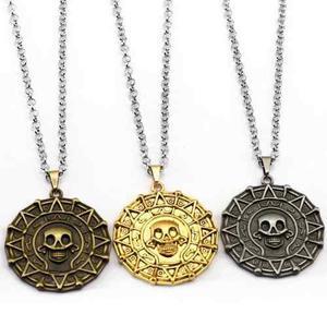 Collar Con Dije Pelicula Piratas Del Caribe Oro Azteca Pirat