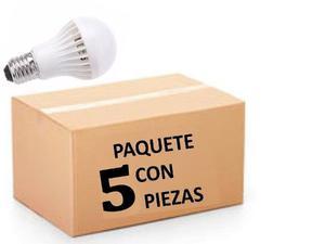 Foco Led 5w E27 Luz Blanca Paquete 5 Piezas Envio Gratis