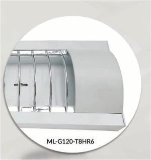 Gabinete Gris Para Tubos Led T8 Lampara 36w No Incluye Focos