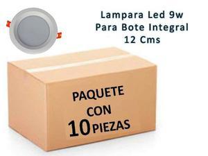Lampara Led 9w Bote Integral 12 Cm Paquete 10 Pza Luz Calida