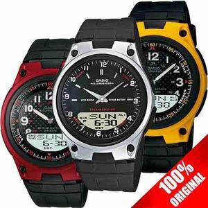 Reloj Casio Aw80 Caucho Varios Colores - Sumergible Original