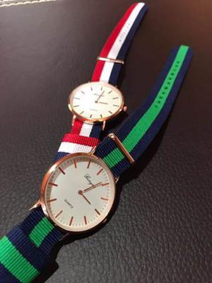 Reloj Hombre Sport Brazalete Pulsera De Tela Para Caballero
