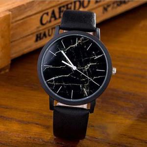 Reloj Marmol Piel Vinil Hombre Mujer Caballero Moda Novedad