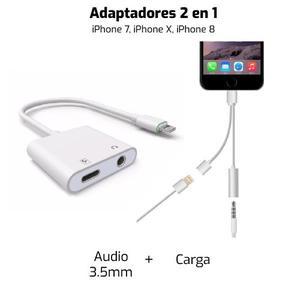 2 En 1 Adaptador Audifonos Y Cargador Iphone 7 8 X Se Ipad