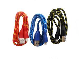 Cable Reforzado Para Iphone 5 6 Y 7 Nylon 1.2 Metros Seafon