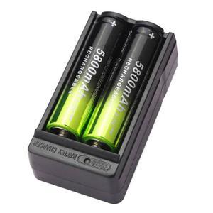 Cargador 2 Baterias  Pilas Recargables 3.7v - 4.2v