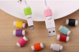 Protector De Cable Para Iphone Y Samsung Varios Colores