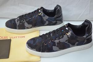 Tenis Louis Vuitton Militar Con Caja,envío Gratis