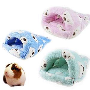 Rata Hamster House Bed Invierno Caliente Fleece Mascotas Peq