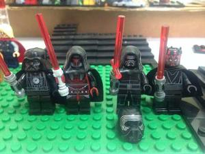 Set 4 Star Wars Sith Kylo Ren Vader Maul Compatible Lego