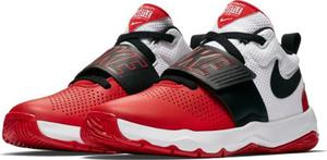 Tenis Nike Team Hustle D8 Niñored/bco Original