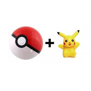 1 Pokebola 7cm + 1 Pikachu 4-5cm Figura Pokeball Pokemon Go