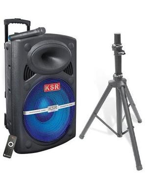 Bafle Amplificado De 15 Recargable Bluetooth Microfono Ksr