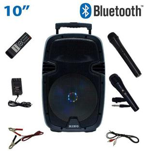 Bocina Amplificada 10 Portatil Recargable Bluetooth Usb/sd