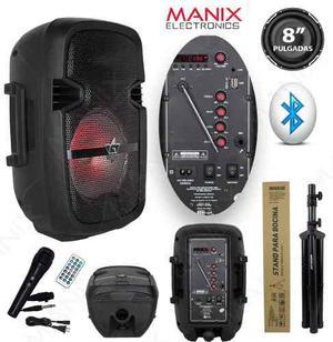Bocina Gadiz 8 Pulgada Recargable Bluetooth Radio Usb Tripie