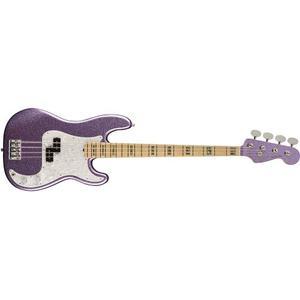 Fender Adam Clayton Precision Bass Purple Sparkle+case