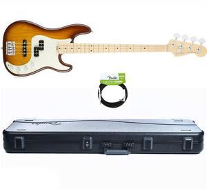 Fender American Elite Precision Bass Tobacco Sunburst+case