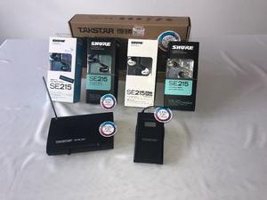 Monitor Personal Shure Se215 + Wpm-200 Inear Con Audifonos