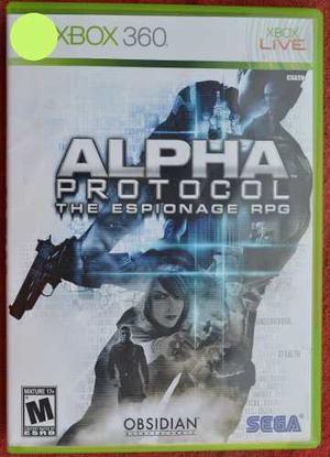Alpha Protocol The Espionage Rpg Para Xbox 360