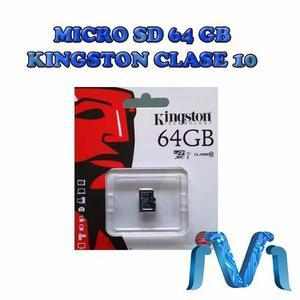 Memoria Micro Sd 64 Gb Clase 10 Kingston