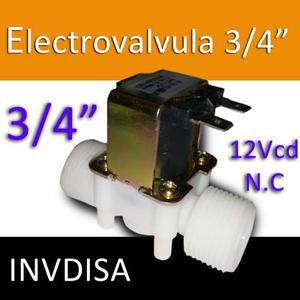 Válvula Solenoide Electroválvula Agua vcd N.c.