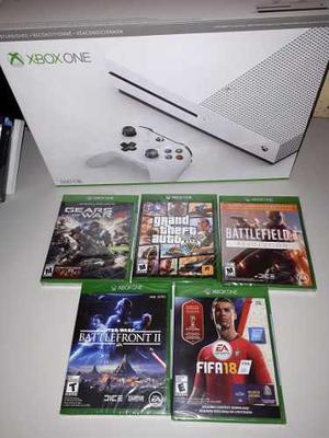 Xbox One S 500 Gb + 5 Juegos Nuevos