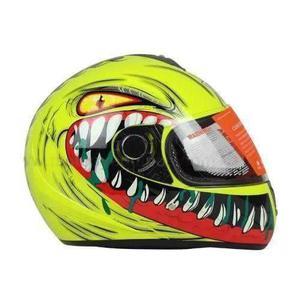 Casco Cerrado R7 Racing R Dientes Amarillo Neon