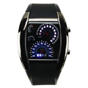 Lote 10 Reloj Led Aviation Tipo Velocímetro Novedoso