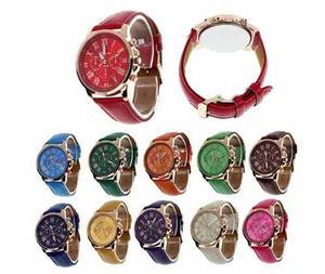 Lote 10 Relojes Geneva Hombres Mujeres Mayoreo Promoción
