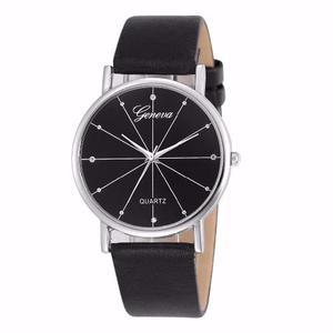 Lote De 10 Relojes Geneva Hombres De Cuarzo Mayreo Lujo