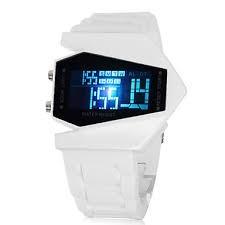 Nuevo Reloj De Led Aircraft *blanco* Display 5 Colores !!!!