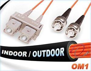 Om1 Sc St En / Cable De Remiendo Al Aire Libre De La Fibra A