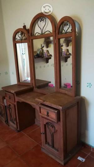 Recamara madera rustica individual