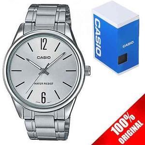 Reloj Casio Caballero Mtpv005 Plata Acero - Cristal Mineral