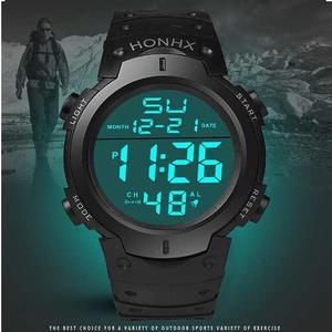 Reloj Deportivo Led Hombre Caballero 30m Agua Cronometro Hx