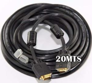 Cable Vga 20 Metros Mts Macho A Macho Paramonitor Led Y Dvr