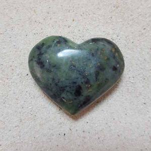 Corazón Jade Inca Verde. 3.5 - 4 Cm. Poder Sabiduría