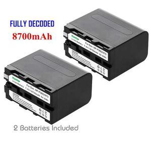 Pack De 2 Baterías P/ Cámara Sony Np-f960 Np-f970 F930