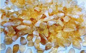 Piedra Cuarzo Citrino Pulido Brillo Gran Color Calidad 612g