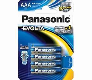 Pila Panasonic Evolta Alcalina Aaa Lr03egl/b4 Con 4 Piezas
