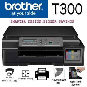 Multifuncional Brother Dcpt300 Tinta Continua De Fábrica