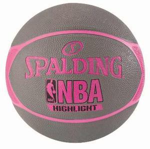Balon Basketball Spalding Highlight Rosa No.7 Hule
