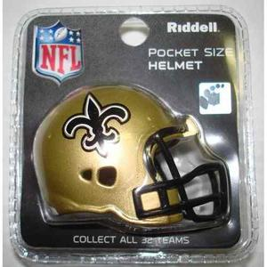 Casco Nfl Pocket Helmet Saints New Orleans
