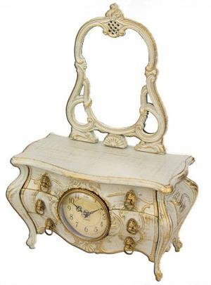 Joyero Alhajero Caja Musical Reloj Barroco Tocador Regalo