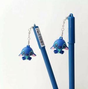 Pluma Gel Tinta Negra Kawaii Stitch -pieza-