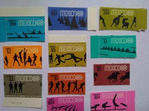 21 Timbres Nuevos Olimpiadas Mexico 68 Series