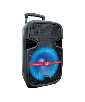 Bafle Recargable Bluetooth Bocina De 12 Usb Fm Luz Ksr