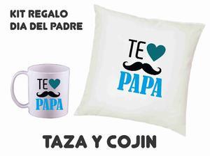 Kit Regalo Dia Del Padre Taza Y Cojin Dia Del Papa