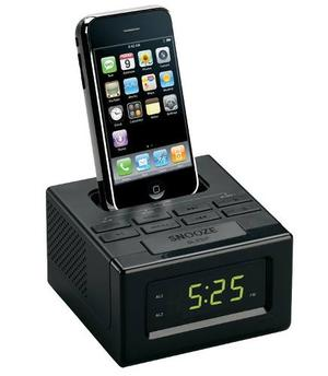 Radio/reloj Despertador, Fm, Docking Para Ipod/iphone Negro