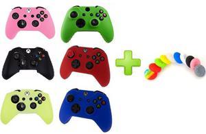 2 Fundas Silicon Control Xbox One Varios Colores Y 4 Grips